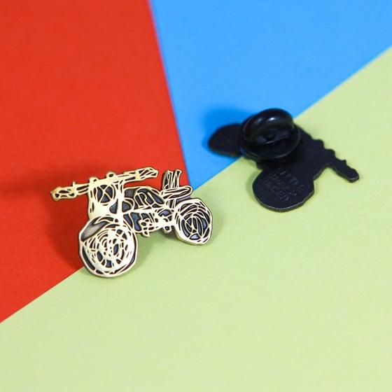 Image of Scribble Motorcycle Enamel Pin