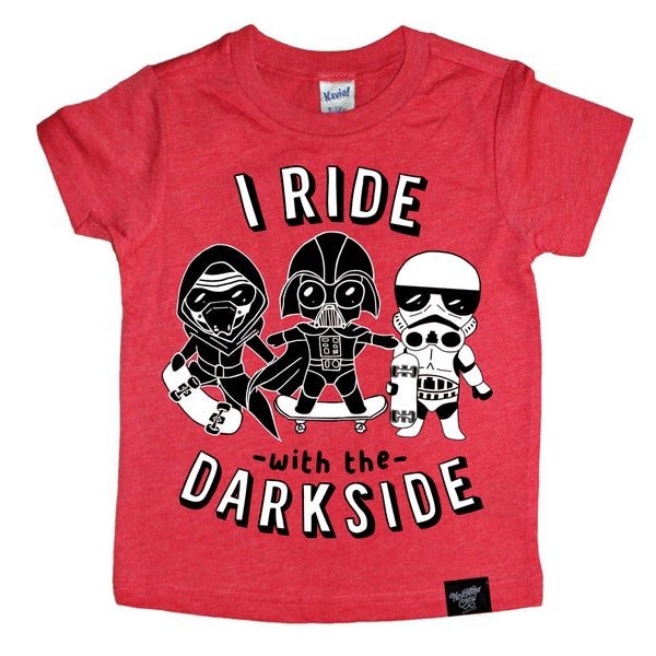 Image of I Ride Heather Red Tee
