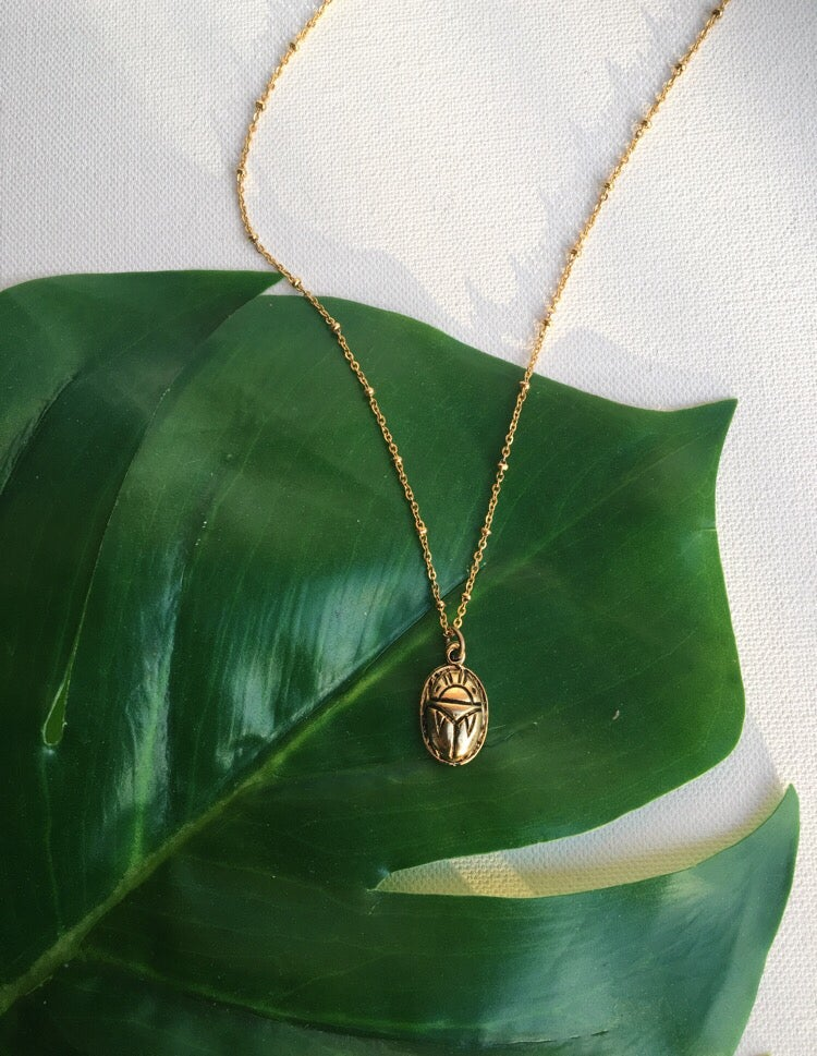 Image of CARAS Scarab Necklace