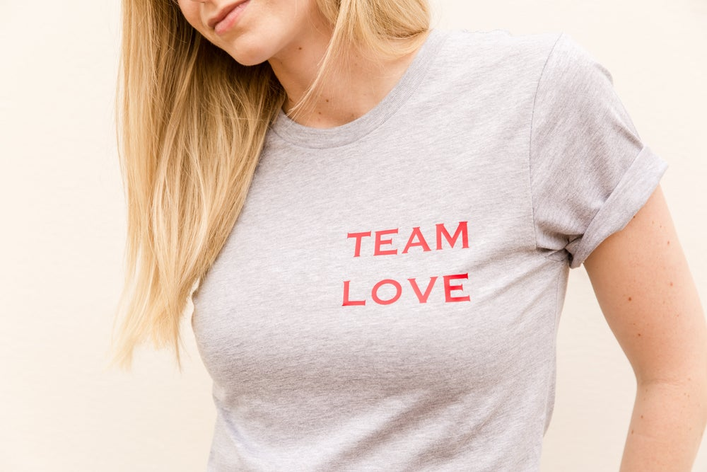 Image of TEAM LOVE ADULT & CHILDRENS TEES