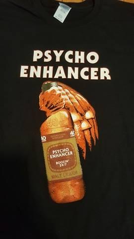 Image of PSYCHO ENHANCER HALLOWEEN T SHIRT (IN STOCK)