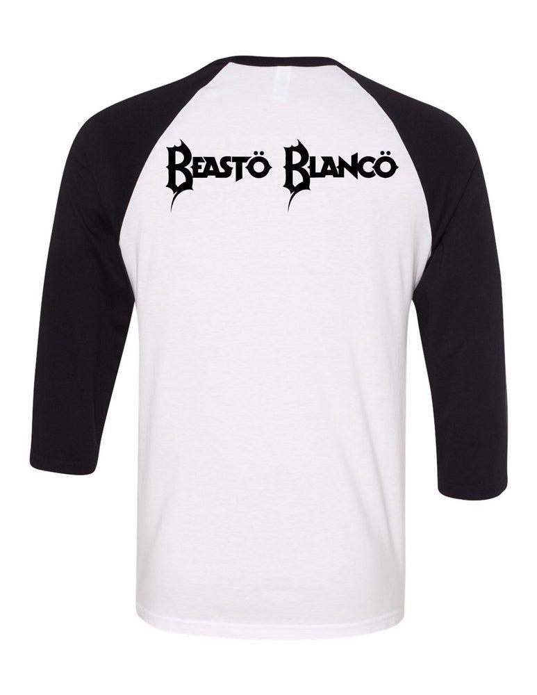 "Image of OFFICIAL - BEASTO BLANCO - MASK ""BEASTO"" 3/4 SLEEVE SHIRT"