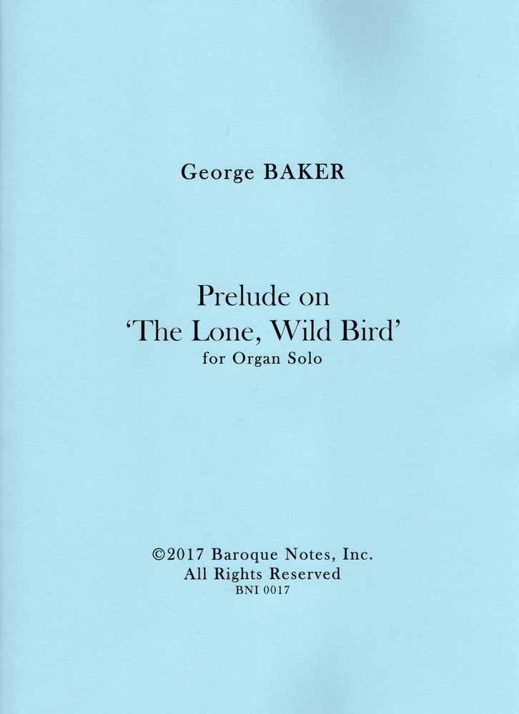 Image of Prelude on 'The Lone, Wild Bird'