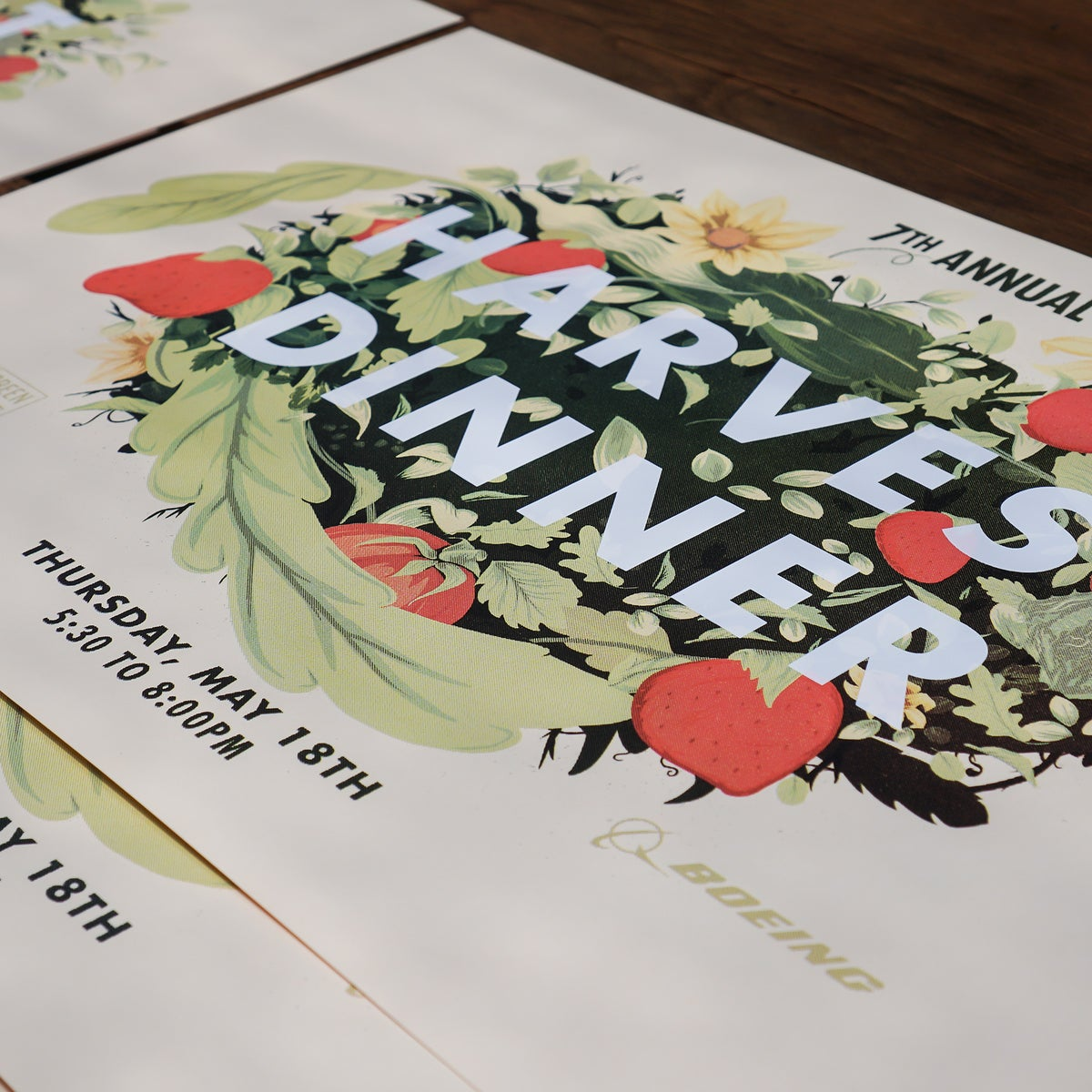 Image of 7th annual Harvest Dinner Screen Print poster