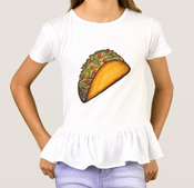 Image of Girls Taco Ruffle Shirt
