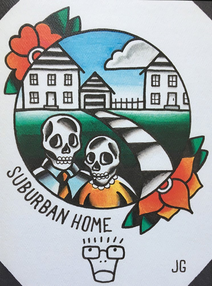 Image of Descendents Suburban Home Print