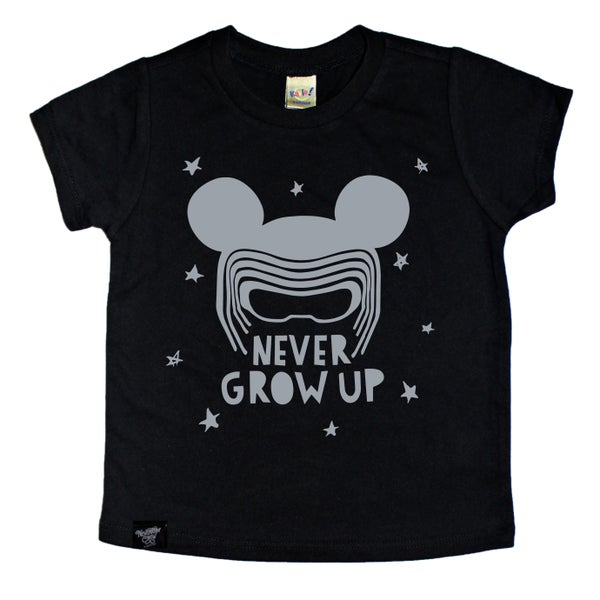 Image of Never Grow Up Black Tee