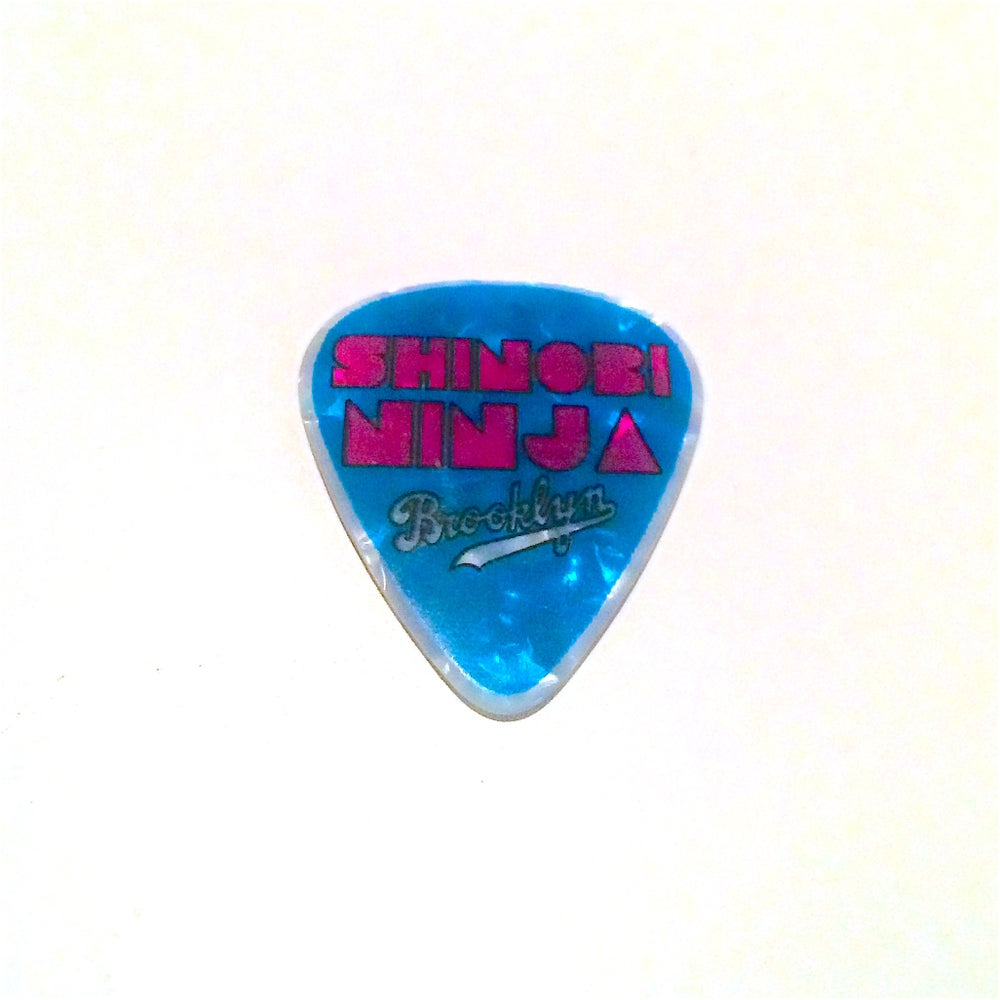 Image of Shinobi Ninja Double Sided Pink & Blue Guitar Pick