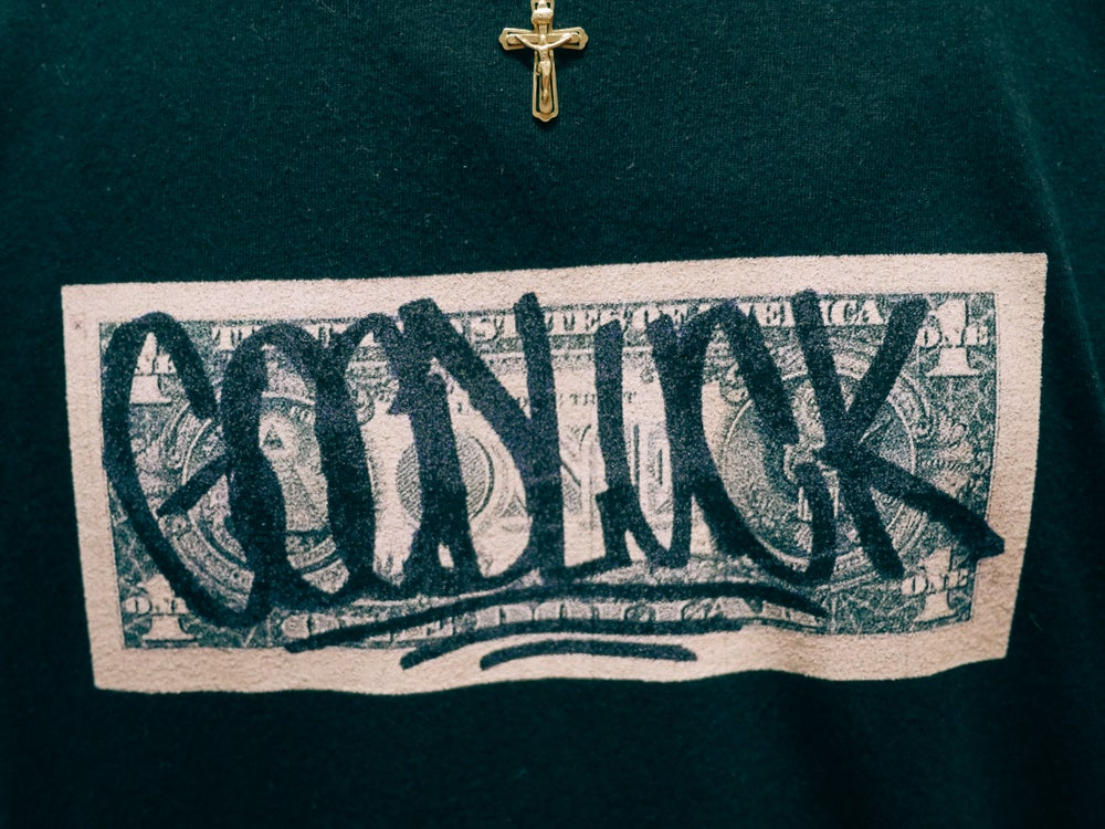 "Image of ""GOODLUCK"" T-Shirt in Black"