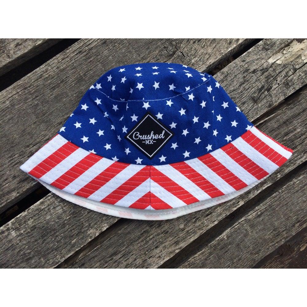 Image of USA Crushed MX Bucket Hat