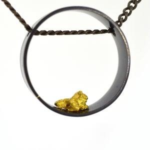 Image of Alluvial circle pendant