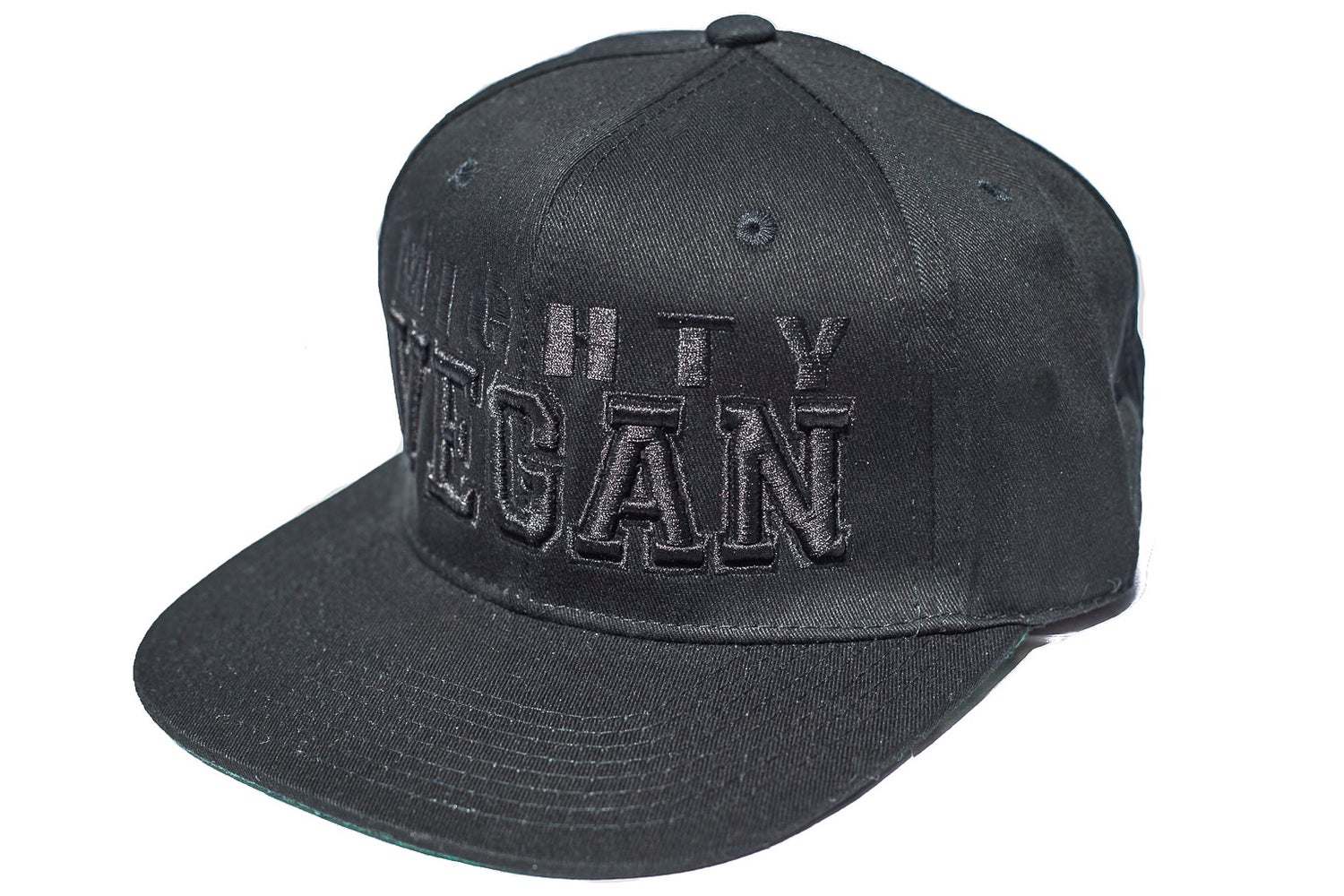 Image of NEW BLACK 3D EMBROIDERY BOLD FONT SNAPBACK HAT
