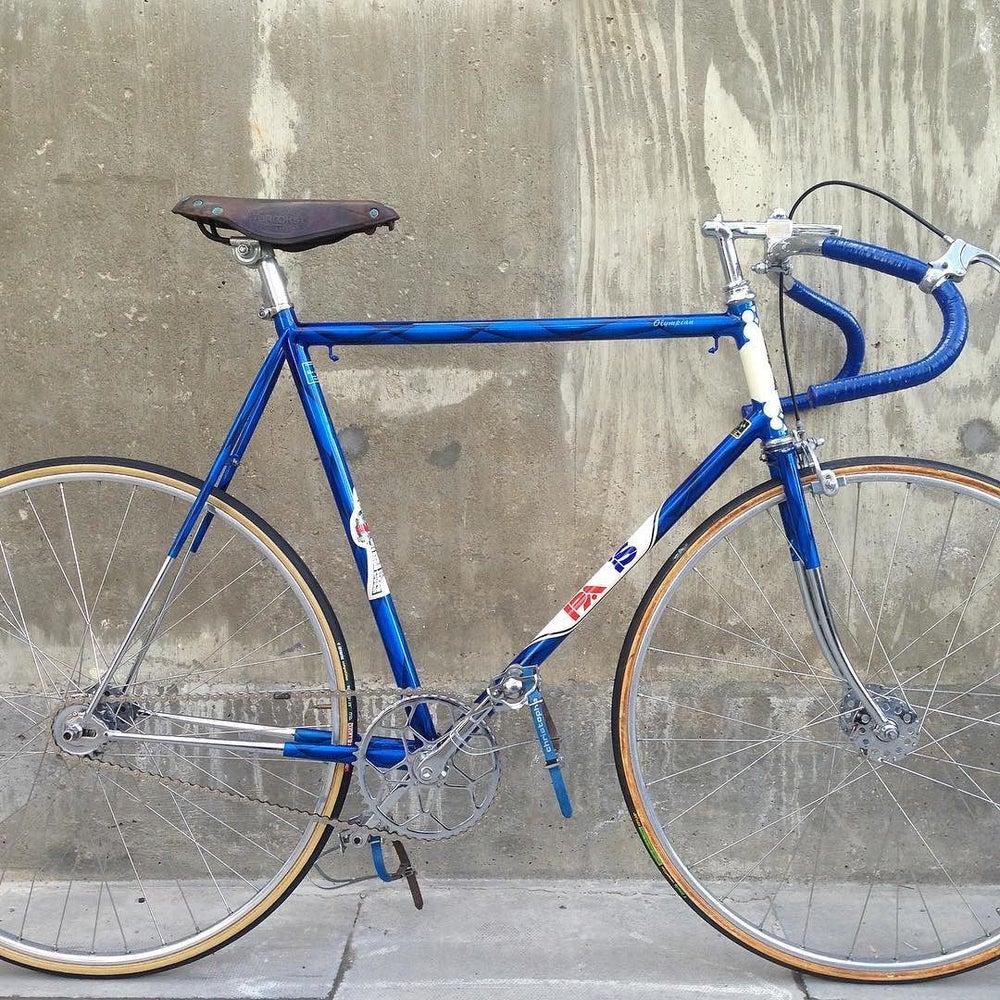 "Image of Paris  Cycles road path bike  22 1/2"" top tube ctt top tube same"