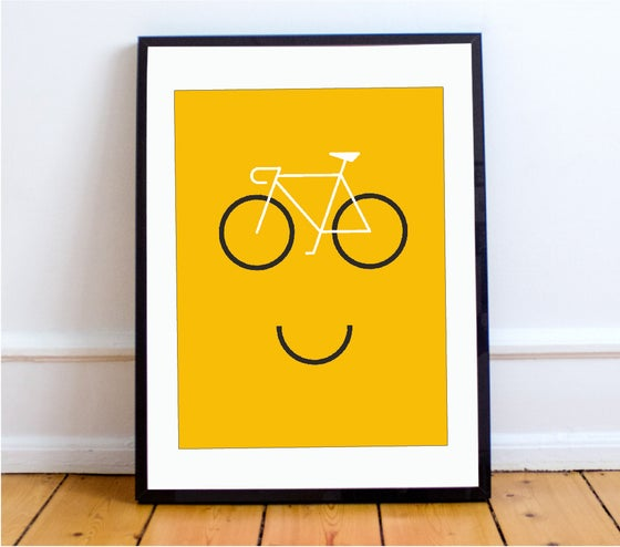 Image of Happy Cycling print - A4 & A3