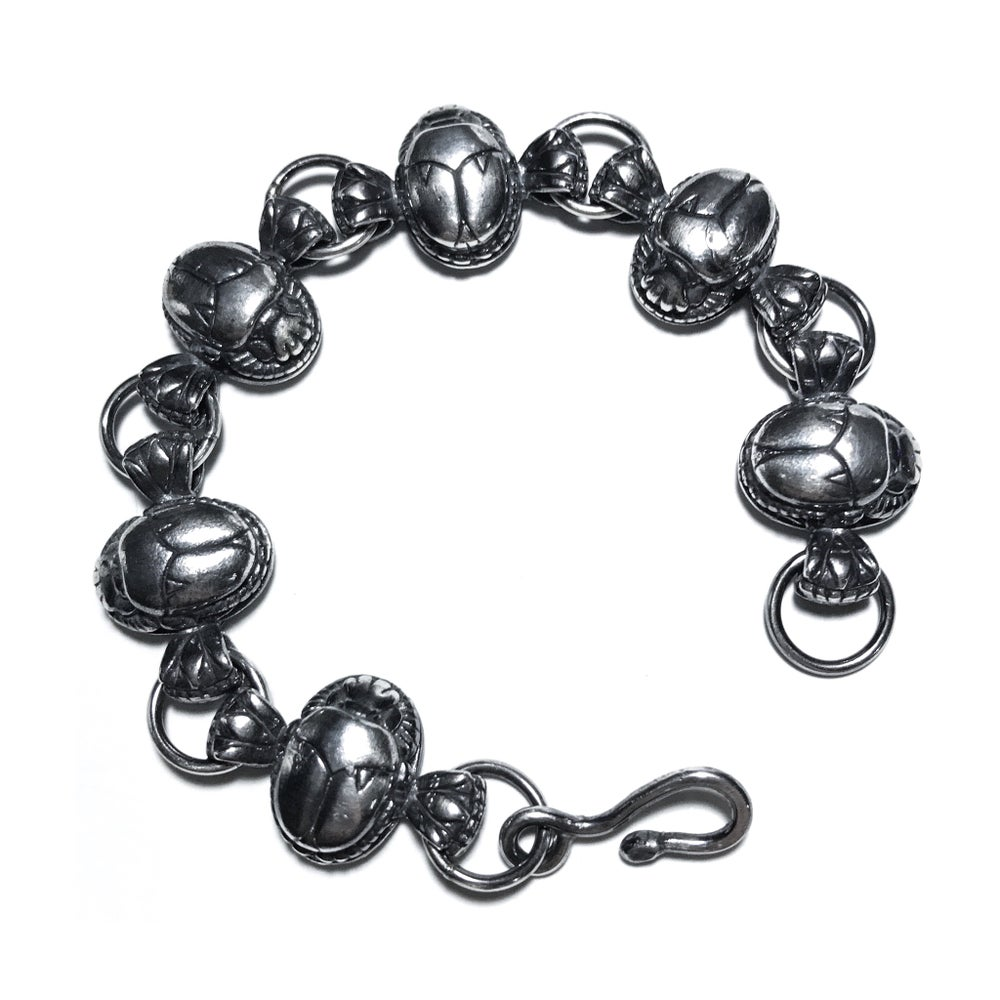 Image of Scarab bracelet in sterling silver