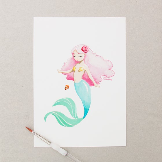 Image of MERMAID PRINT A5