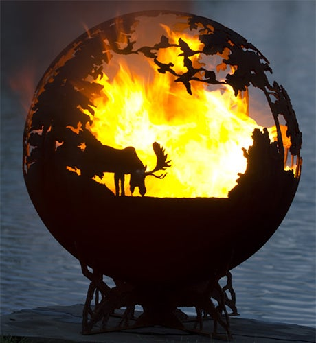 firepits of london deep forest fire pit globe. Black Bedroom Furniture Sets. Home Design Ideas