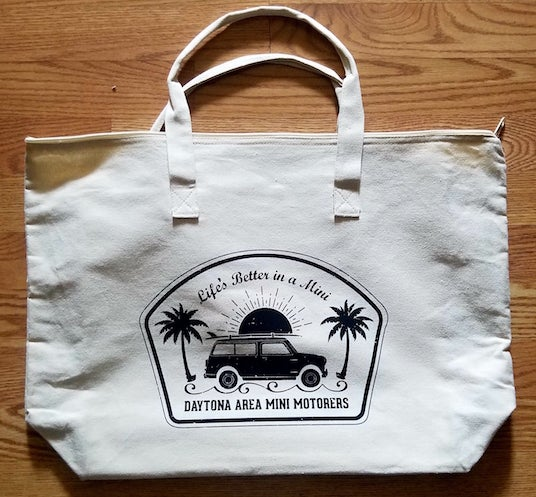 Image of DAYTONA AREA MINI MOTORERS CANVAS TOTE