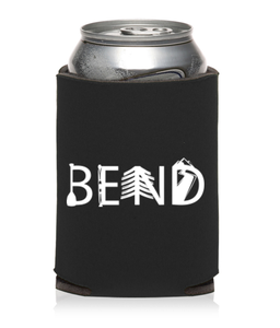 Image of Bend Oregon Activity Letters Beer Can Cooler