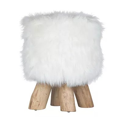 Image of Lebombo Faux Fur Stool