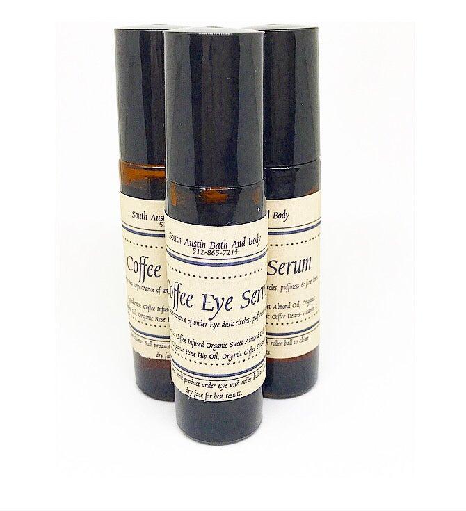 Image of Coffee Eye Serum 10ml glass bottle/metal roller