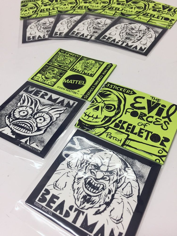 """Image of """"Evil Forces of Skeletor"""" Sticker Pack by Patch"""