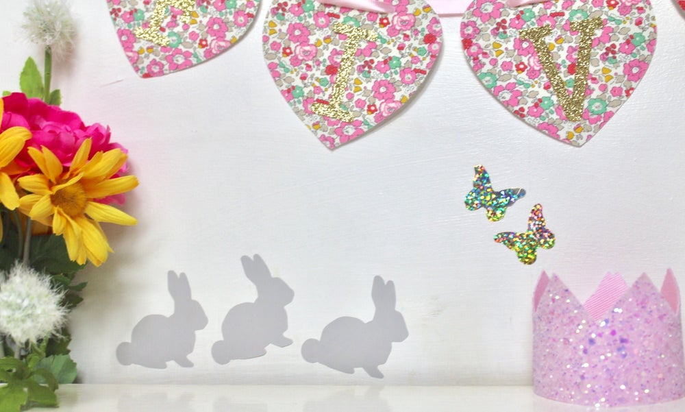 Image of Animal wall decals - rabbits & butterflies, unicorns, star fish and dinosaurs