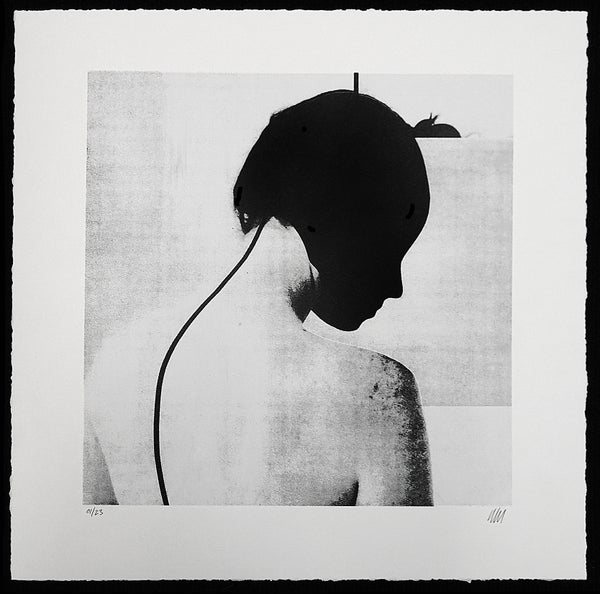 "Jesse Draxler - ""Consciousness Antenna II, 2017"" - 2 Color Screenprint - Edition of 23 - Misc. Press"