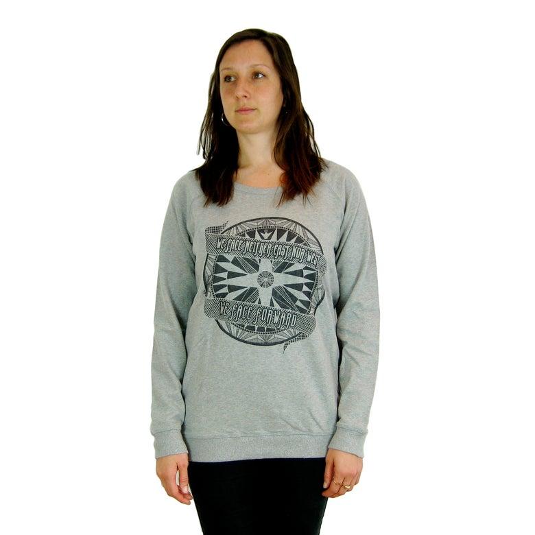 Image of AfriCAN Navigate Ladies Organic Sweatshirt in Grey Melange and Grey Pearl