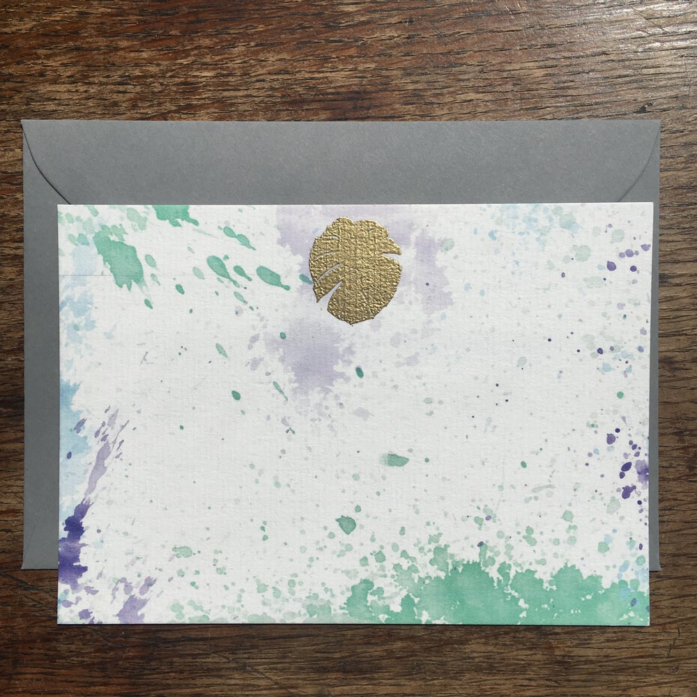 Image of Palm Gold Embossed Notecard