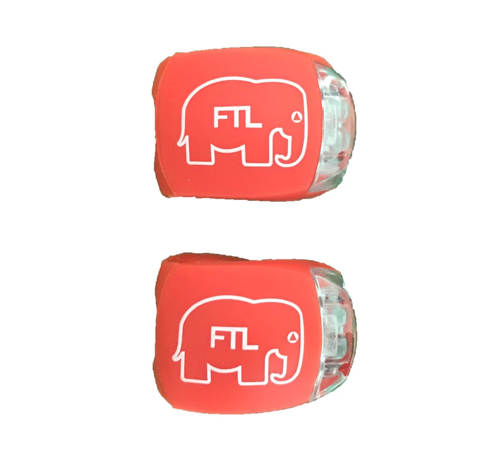 Image of Elephant Bike Lights (Pack of 2) Red