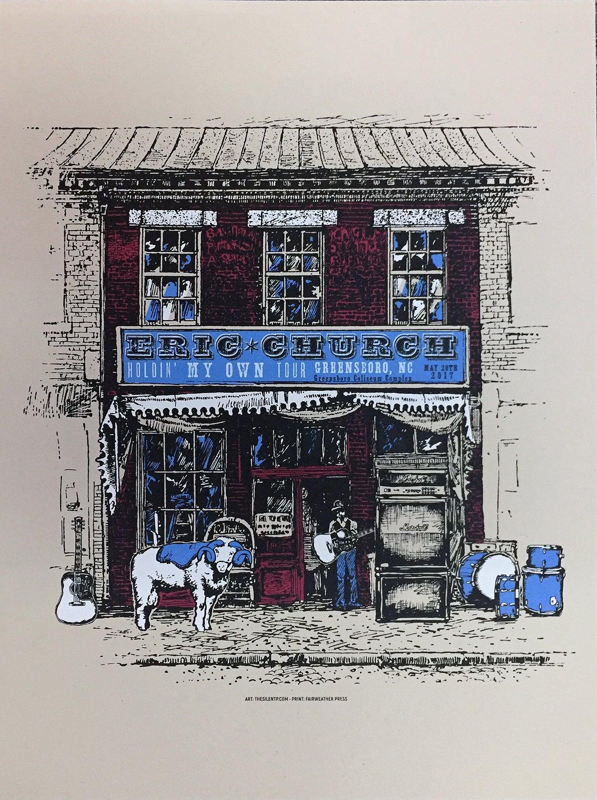 "Image of Eric Church ""General Store"" Greensboro, NC"