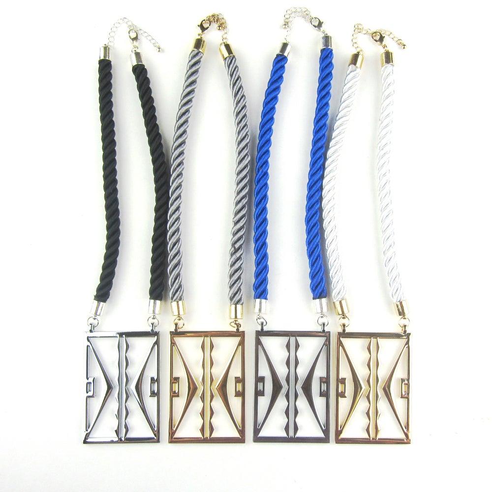 Image of Large Parfleche Rope Pendants (Various)