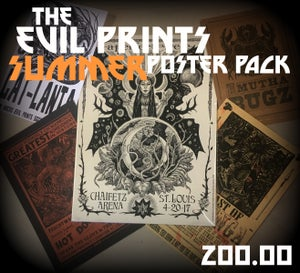 Image of The Evil Prints Summer Poster Pack