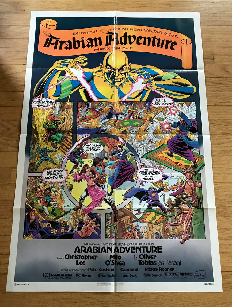 Image of 1979 ARABIAN ADVENTURE Original U.S. One Sheet Movie Poster