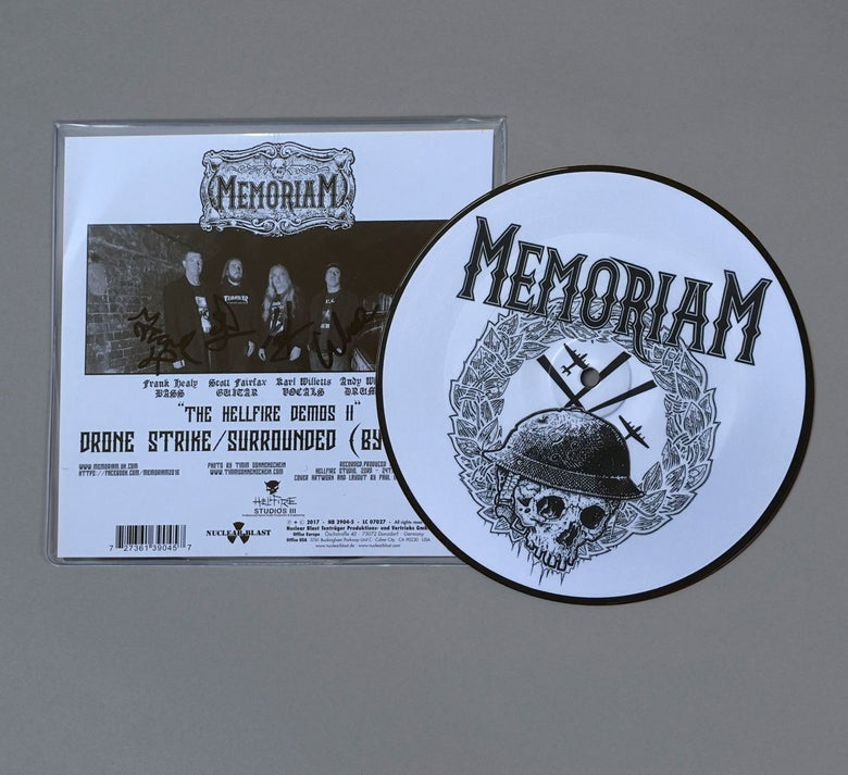 "Image of Memoriam - Hellfire Demo II - 7"" Single - Picture Disc - Signed"