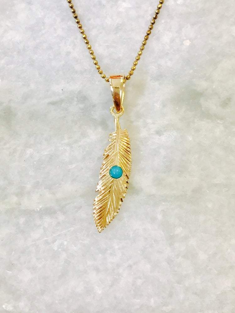 Image of Feather pendant