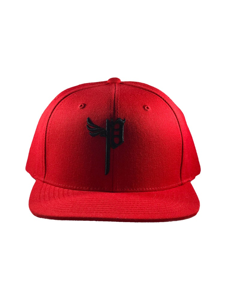 "Image of ""P Snap Backs- Black"