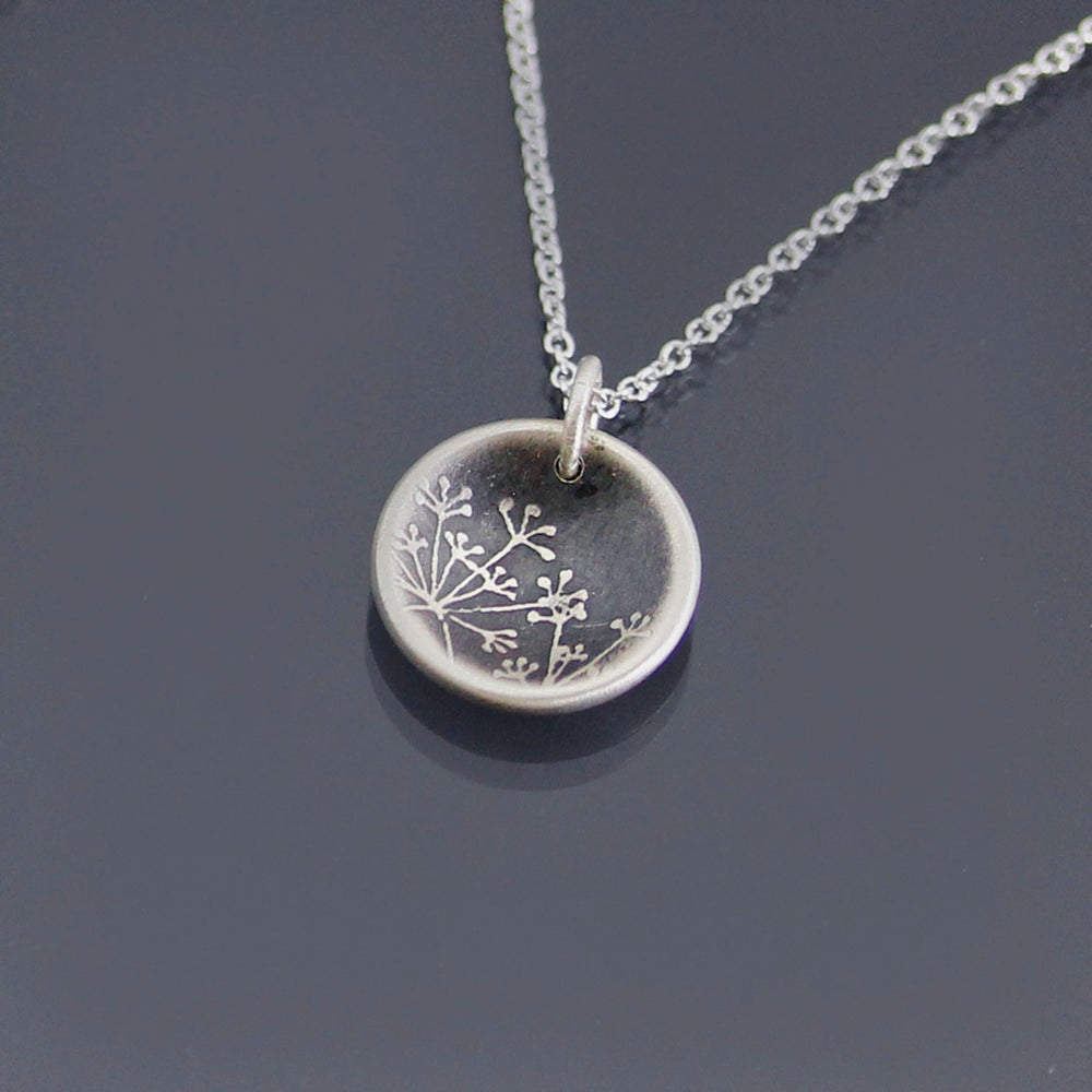 Image of Tiny Cupped Queen Anne's Lace Necklace