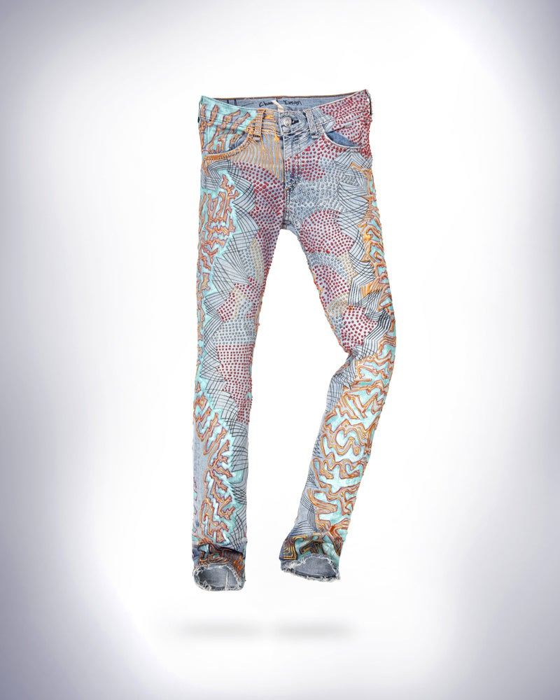 Image of Chanel Iman's Jeans for Refugees
