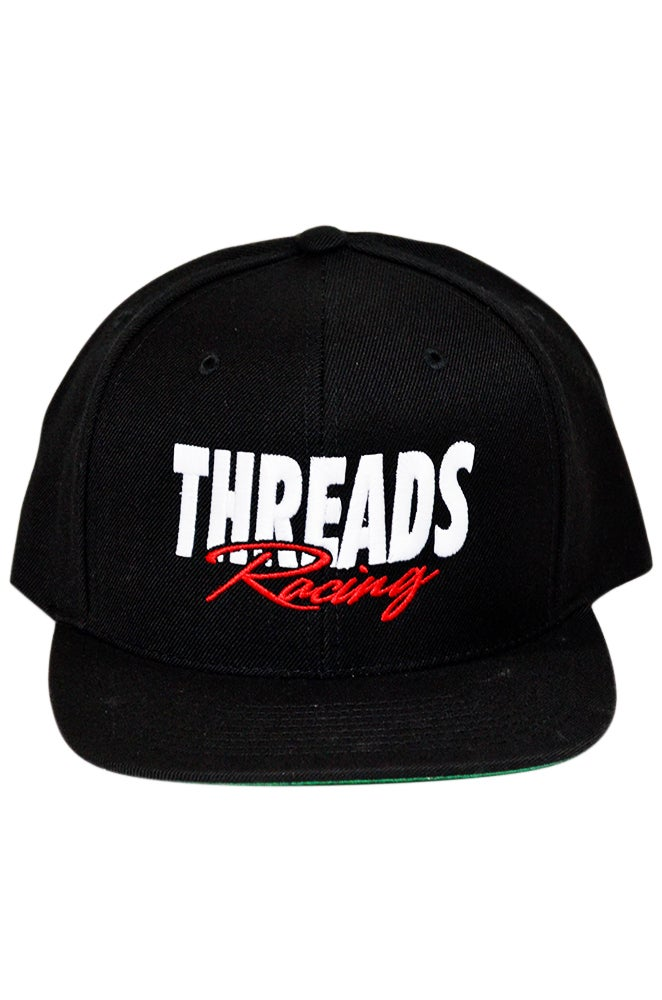 Image of THREADS Racing Snapback - White