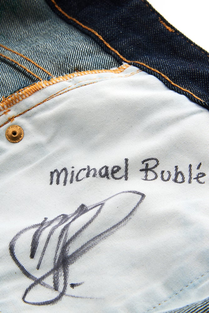 Image of Michael Buble's Jeans for Refugees
