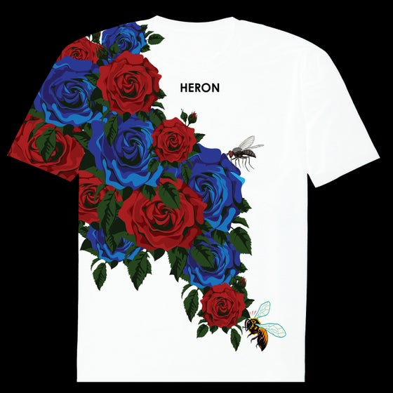 Image of BUSH ROSE TSHIRT (WHITE)