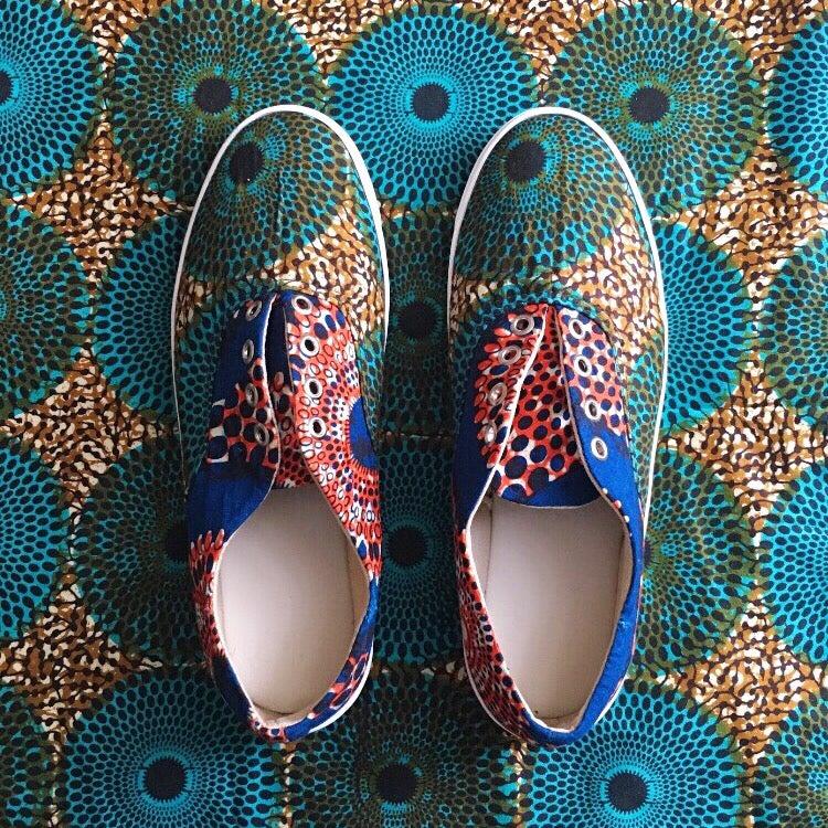 Image of •Meji• Wax Print Sneakers