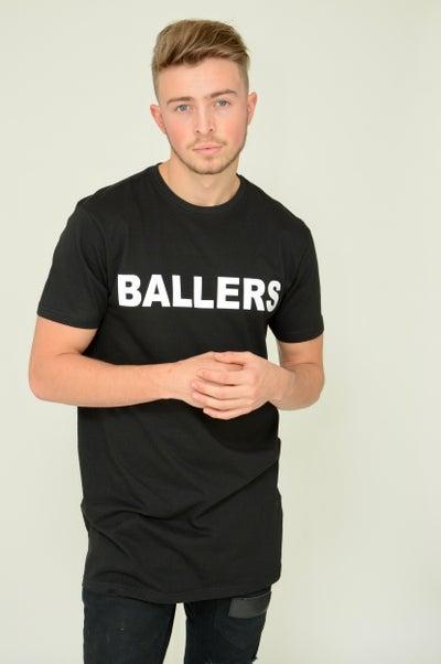 Image of Ballers Black Longline Tee