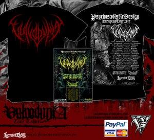 Image of VULVODYNIA - Tour shirt - Red logo + TOUR POSTER