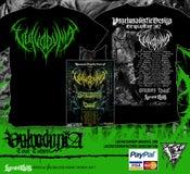 Image of VULVODYNIA - Tour Shirt - Green Logo + TOUR POSTER