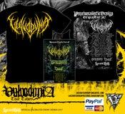 Image of VULVODYNIA - Tour Shirt - Yellow logo + TOUR POSTER