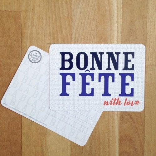 Image of *NOUVEAUTÉ* Carte postale BONNE FÊTE