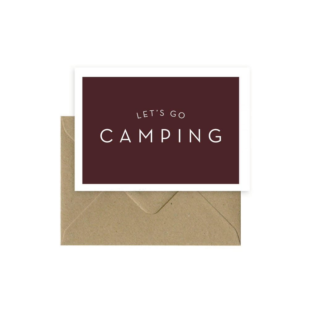 Image of Let's go camping